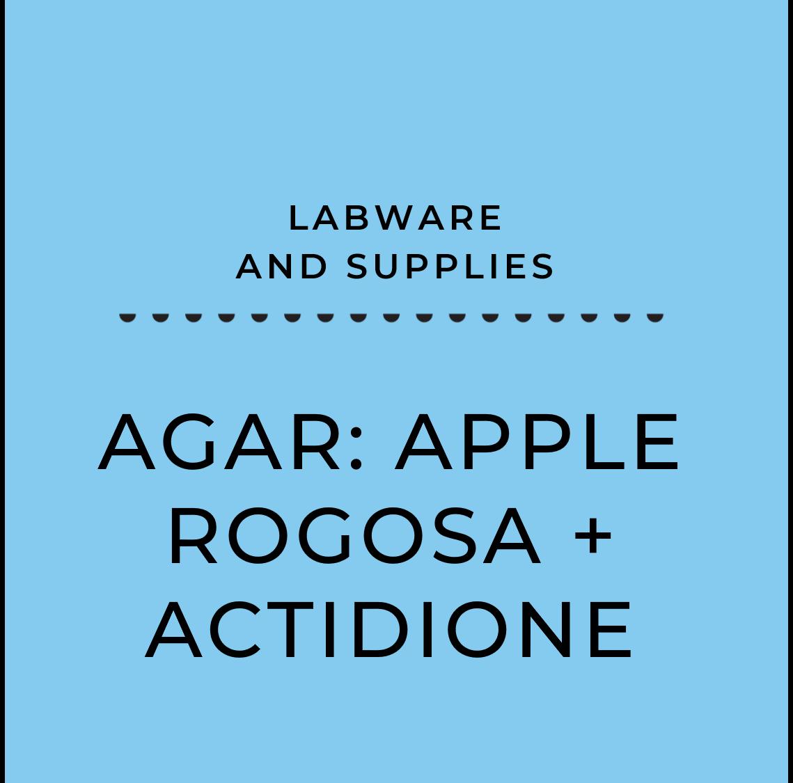 Agar: Apple Rogosa + actidione