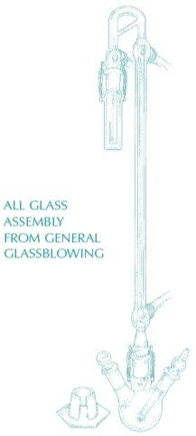 General Glassblowing Complete All-Glass Apparatus Assembly for Free and Total SO2
