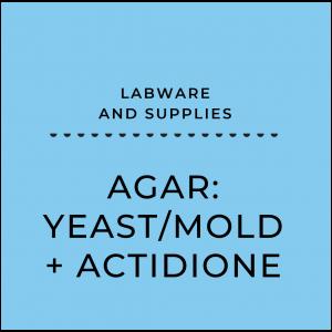 Agar: Yeast/mold + actidione
