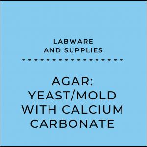 Agar: Yeast/mold with calcium carbonate